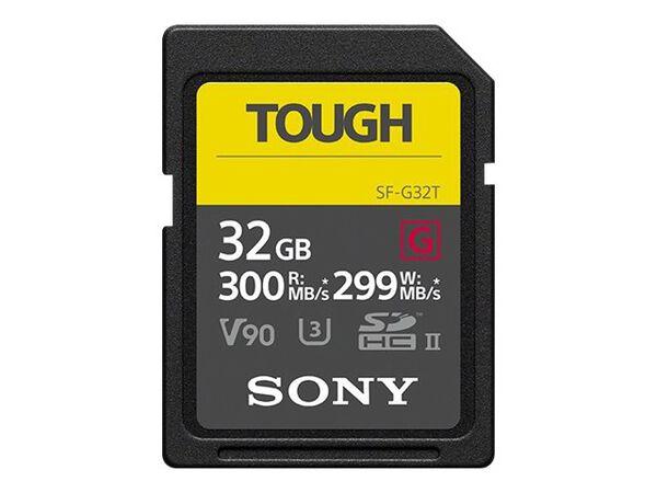 Sony SF-G series TOUGH SF-G32T - flash memory card - 32 GB - SDHC UHS-IISony SF-G series TOUGH SF-G32T - flash memory card - 32 GB - SDHC UHS-II, , hi-res