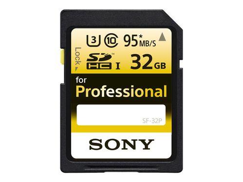 Sony SF-32P - flash memory card - 32 GB - SDHC UHS-I, , hi-res