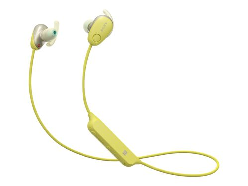 Sony WI-SP600N - earphones with mic, Yellow, hi-res