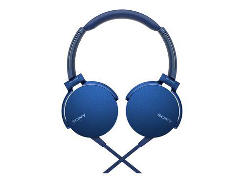 Sony MDR-XB550AP - headphones with mic, Blue, hi-res