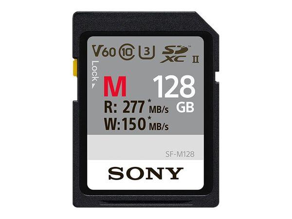 Sony SF-M Series SF-M128 - flash memory card - 128 GB - SDXC UHS-IISony SF-M Series SF-M128 - flash memory card - 128 GB - SDXC UHS-II, , hi-res