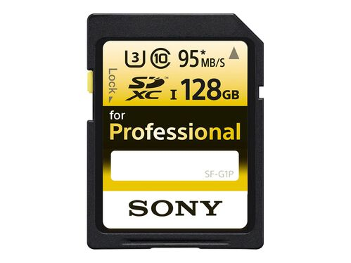 Sony SF-G1P - flash memory card - 128 GB - SDXC UHS-I, , hi-res