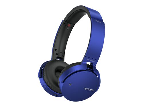Sony MDR-XB650BT - headphones with mic, Blue, hi-res