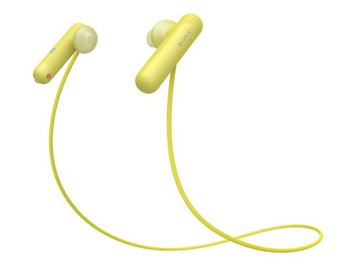 Sony WI-SP500 - earphones with mic, Yellow, hi-res