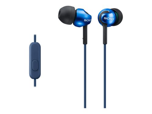 Sony MDR-EX110AP - earphones with mic, Blue, hi-res
