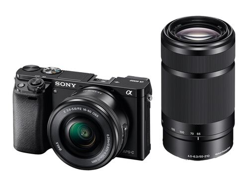 Sony α6000 ILCE-6000Y - digital camera 16-50mm and 55-210mm lenses, , hi-res