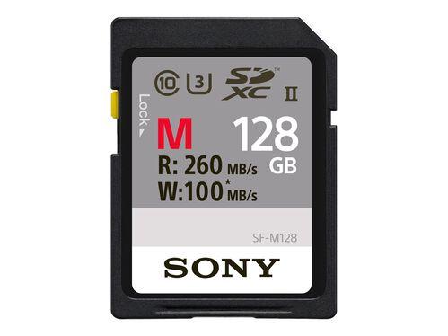 Sony SF-M Series SF-M128 - flash memory card - 128 GB - SDXC UHS-II, , hi-res