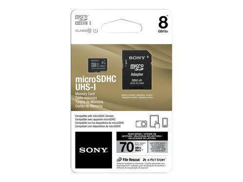 Sony SR-UY2A Series SR-8UY2A - flash memory card - 8 GB - microSDHC UHS-I, , hi-res