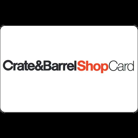 Crate & Barrel: $50 Gift CardCrate & Barrel: $50 Gift Card