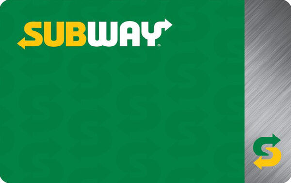 Subway: $10 Gift CardSubway: $10 Gift Card