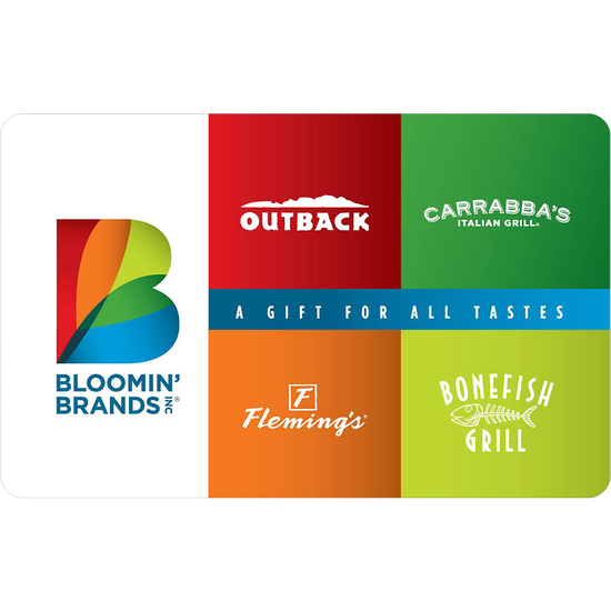 Outback: $10 Gift CardOutback: $10 Gift Card