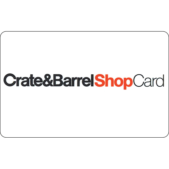 Crate & Barrel: $50 Gift CardCrate & Barrel: $50 Gift Card