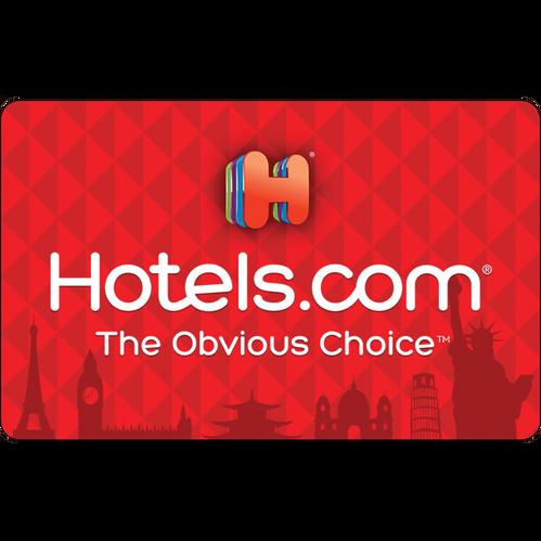 Hotels.com: $50 Gift Card