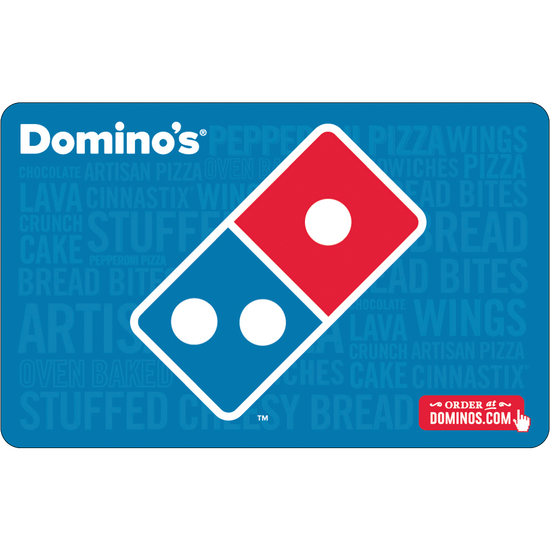 Dominos: $25 Gift CardDominos: $25 Gift Card