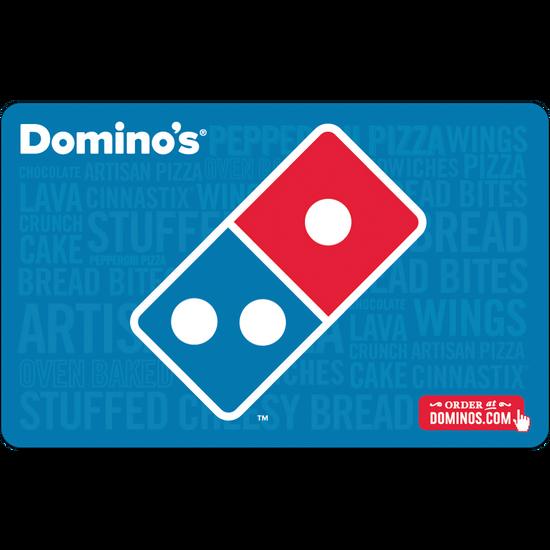 Dominos: $25 Gift CardDominos: $25 Gift Card