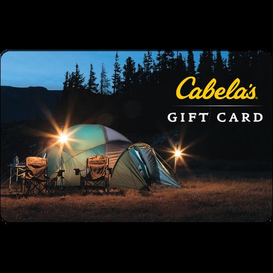 Cabelas: $50 Gift CardCabelas: $50 Gift Card