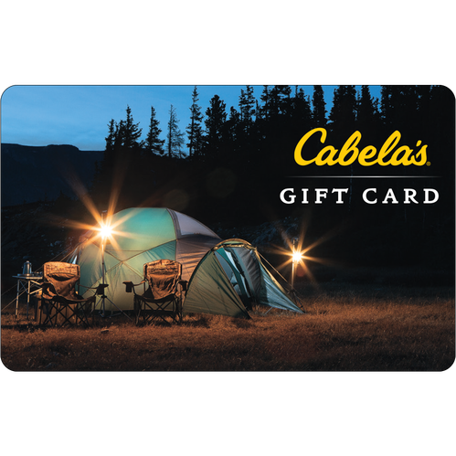 Cabelas: $50 Gift Card