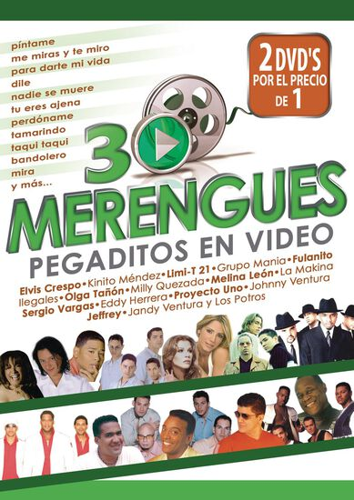 30 MERENGUES PEGADITOS EN VIDEO (2 DVD)30 MERENGUES PEGADITOS EN VIDEO (2 DVD), , hi-res