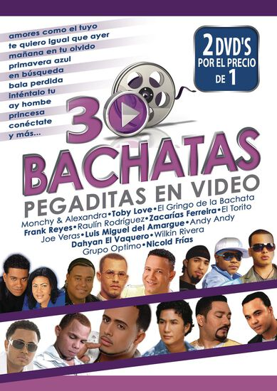 30 BACHATAS PEGADITAS EN VIDEO (2 DVD)30 BACHATAS PEGADITAS EN VIDEO (2 DVD), , hi-res