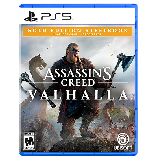 Assassin's Creed Valhalla SteelBook Gold Edition for PlayStation 5Assassin's Creed Valhalla SteelBook Gold Edition for PlayStation 5