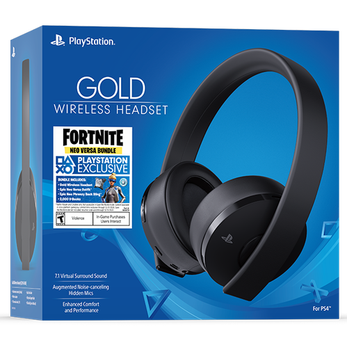 Gold Wireless Headset: Fortnite Neo Versa