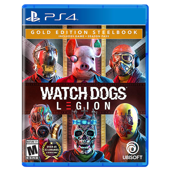 Watch Dogs Legion for PlayStation 4 Gold Steelbook EditionWatch Dogs Legion for PlayStation 4 Gold Steelbook Edition