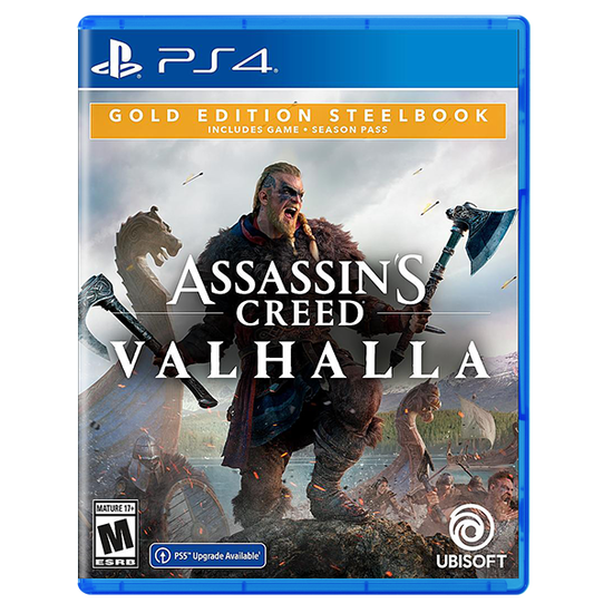 Assassin's Creed Valhalla SteelBook Gold Edition for PlayStation 4Assassin's Creed Valhalla SteelBook Gold Edition for PlayStation 4