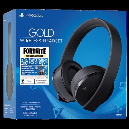 Gold Wireless Headset: Fortnite Neo Versa