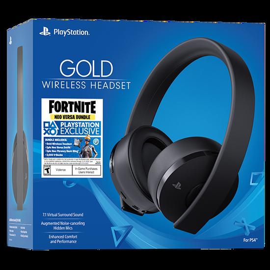 Gold Wireless Headset: Fortnite Neo VersaGold Wireless Headset: Fortnite Neo Versa