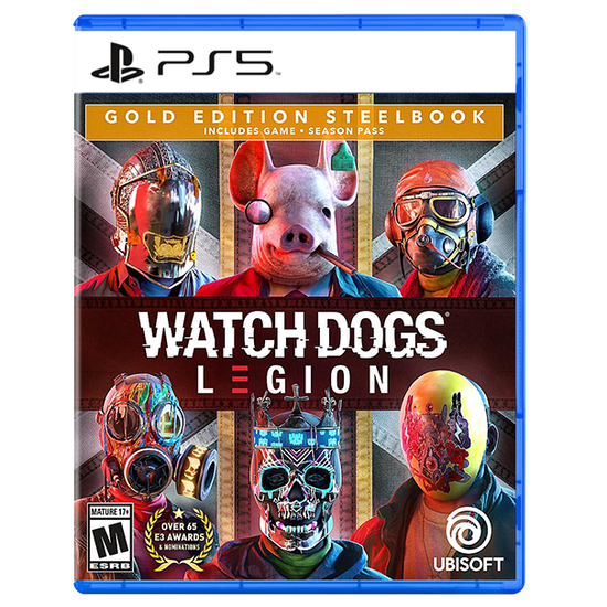 Watch Dogs: Legion SteelBook Gold Edition for PlayStation 5Watch Dogs: Legion SteelBook Gold Edition for PlayStation 5