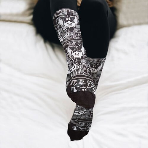 Ratchet and Clank Coolmax Printed Socks Black/White