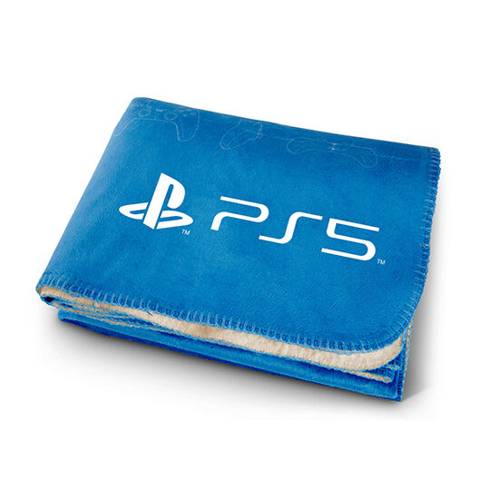PS5 Pro Vision Challenger Lambswool Throw Blue/WhitePS5 Pro Vision Challenger Lambswool Throw Blue/White