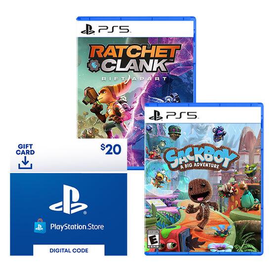 Sweeps Prize 4: Sackboy + Ratchet & Clank Bundle For PlayStation 5 EntrySweeps Prize 4: Sackboy + Ratchet & Clank Bundle For PlayStation 5 Entry
